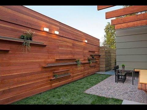 70 fence designs minimalist house wood and iron YouTube