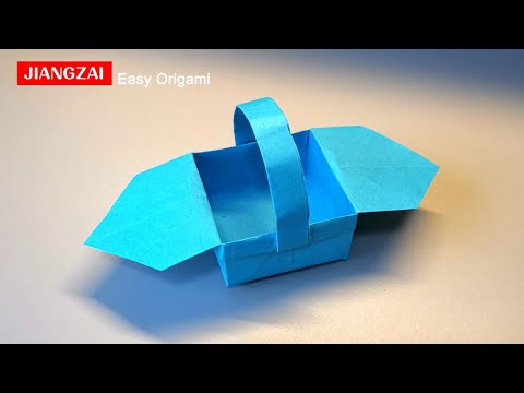 How to Make a Paper Basket With Ears-Origami Tutorial-easy origami for beginners step by step box