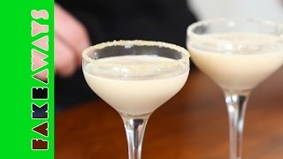 Simple Salted Caramel Martini Cocktail Recipe // Fakeaways With Zoe Ball + Ben Mckellar