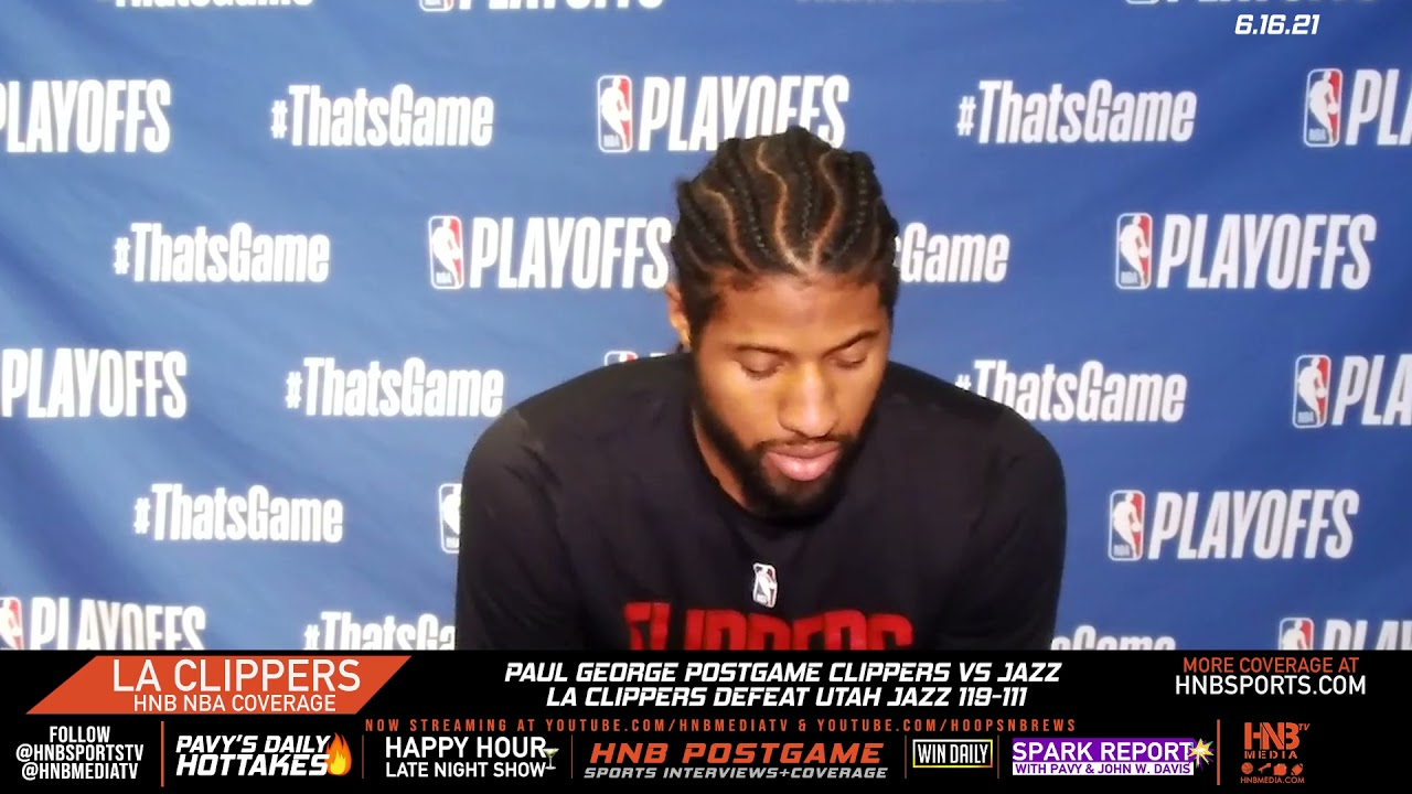 Paul George postgame on LA Clippers Game 5 win over Utah Jazz 6.16.21 | LA Clippers