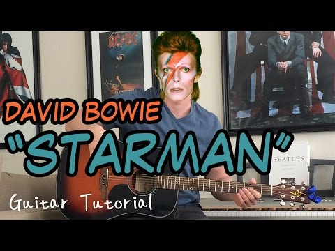 David Bowie - Starman - Guitar Lesson (INTRO, VERSE, CHORUS, OUTRO,  AND MORE!)