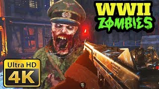 WW2 ZOMBIES IN 4K 60FPS!!! - Xbox One X 4K Gameplay (Call of Duty: WW2 4K 2160p Gameplay)