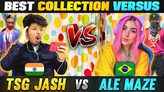 TSG Jash Vs Ale Maze    India 🇮🇳 Vs Brazil 🇧🇷 Who Has The Richest Collection - Garena Free Fire