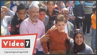 """جمال عبد الحميد يشارك الأطفال فى احتفالية بـ""""يوم اليتيم"""""""