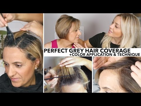Perfect Salon Quality Grey Root Coverage At Home - YouTube