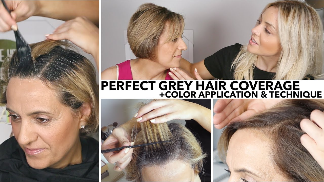 Perfect Salon Quality Grey Root Coverage At Home Youtube