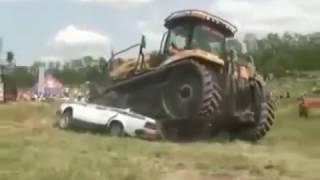 Приколы про машины и трактора  Смотреть шок!