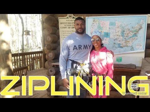 Ziplining at Adventures Unlimited  Milton, Fl