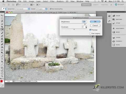 Photoshop CS5 - Brightness & Contrast