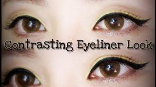 Contrasting Eyeliner Look ♥ Thumbnail