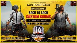 [Gun Point Star Live Now] Pubg Mobile Free UC Custom Room   Daily Free Entry Live Custom 06Aug,2020