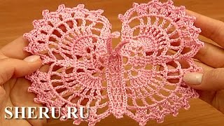 Crochet Big Butterfly Урок 13 Ажурная бабочка крючком