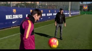 Leo Messi ●15/02/16| HD ● Amazing & Impossible Goal from Corner kick in Barcelona Training.
