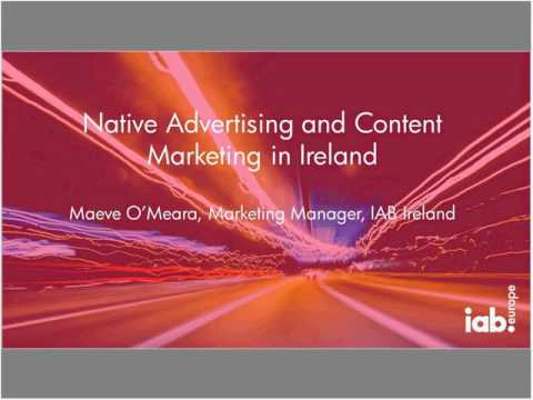 IAB Europe webinar: The Native Advertising & Content Marketing landscape in Europe - 14 Feb 2017