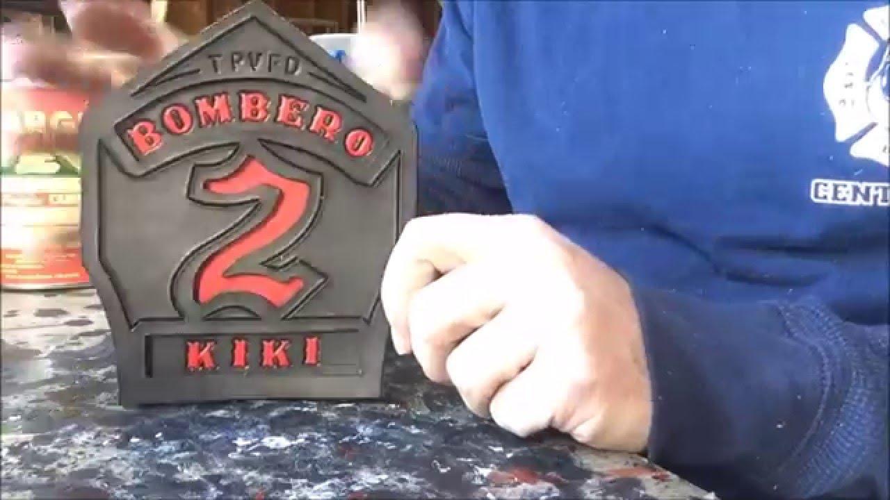 fire helmet shields how to make a firefighter helmet front youtube. Black Bedroom Furniture Sets. Home Design Ideas