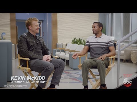 Actors Kevin McKidd and Kelly McCreary  Grey's Anatomy: Post Op Episode 6