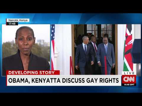 Presidents of Kenya and the US talk trade, terrorism and gay rights