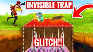 *INVISIBLE* trap glitch fortnite!!