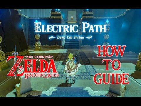 HOW TO DO ELECTRIC PATH - DAKO TAH SHRINE GUIDE - ZELDA BREATH OF THE WILD - NINTENDO SWITCH