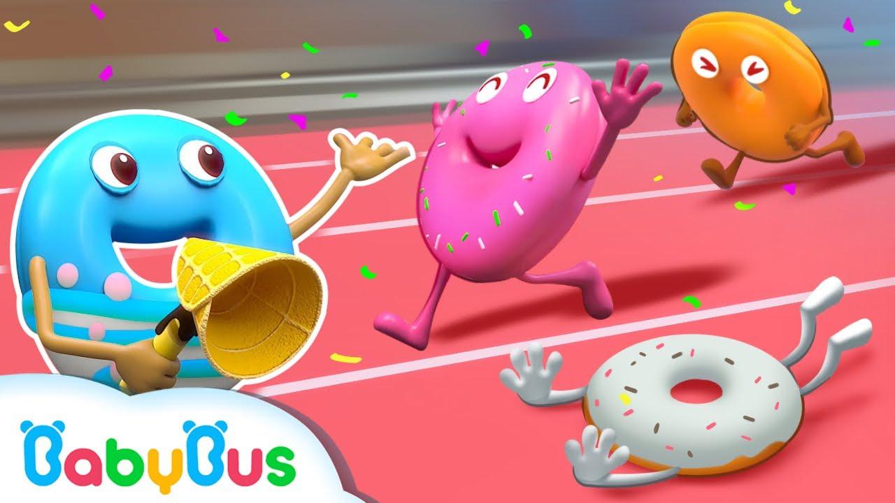 Yuk Bersorak Untuk Donat Yang Dalam Kompetisi Lari | Lagu Anak-anak | BabyBus Bahasa Indonesia
