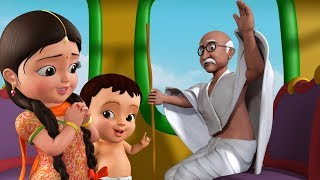 Gandhiji Ke Teen Bandar - Gandhi Jayanti Song   Hindi Rhymes for Children   Infobells