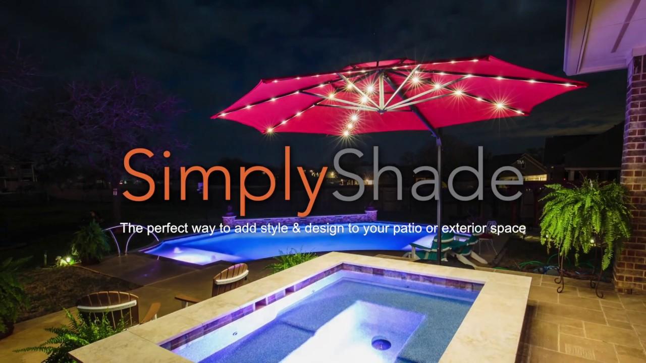Simply Shade 11' LED Cantilever Umbrella Parts ITEM # 804780