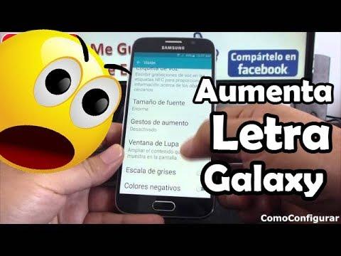 Aumenta el tamaño de la letra de tu Android Samsung Galaxy S6