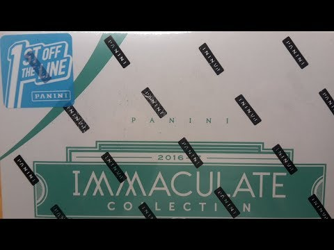 1st Off The Line Panini 2016-17 Immaculate Basketball Collection Box Break and Review