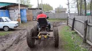 Тест-драйв нового трактора с улучшенными внедорожными характеристиками ч.1