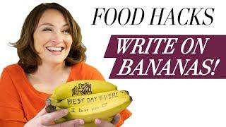 Write On Bananas! | Food Hacks from the Washington Post