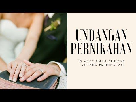 15 Ayat Alkitab Tentang Pernikahan Kata Kata Undangan Pernikahan