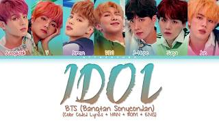 BTS (방탄소년단) - IDOL (Color Coded Lyrics/Han/Rom/Eng)