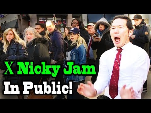 Nicky Jam x J Balvin - X (EQUIS) - SINGING IN PUBLIC!!!