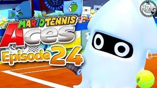 Mario Tennis Aces Gameplay Walkthrough - Episode 24 - Blooper Gameplay Online! (Switch)