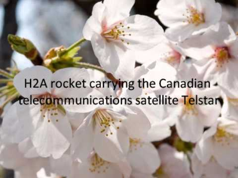 H2A rocket carrying the Canadian telecommunications satellite Telstar