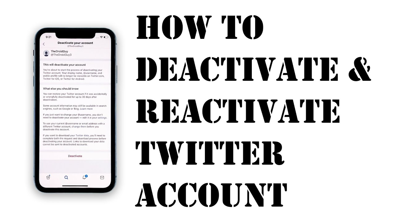 How to Deactivate and Reactivate Twitter Accounts on