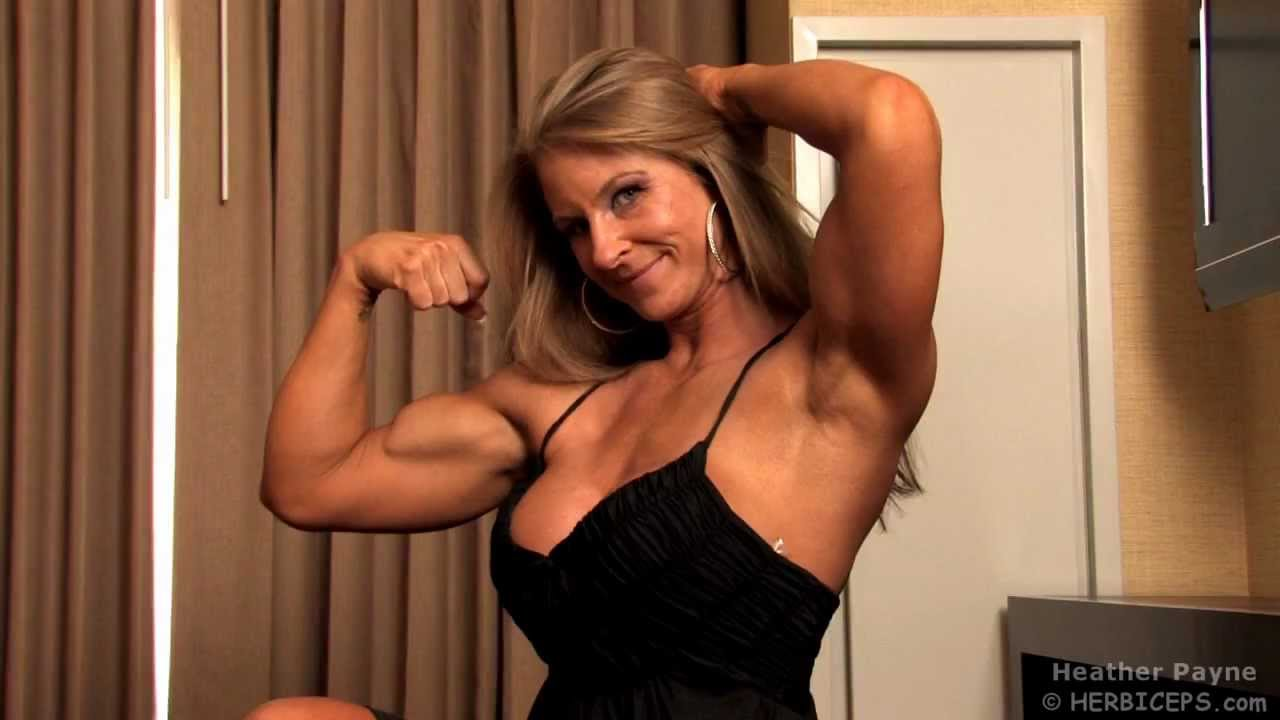 Hot young biceps flexing