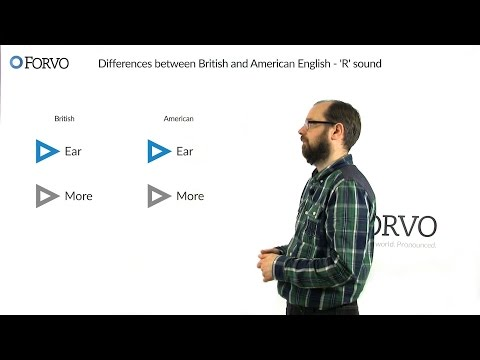 Differences between British and American English - 'R' sound