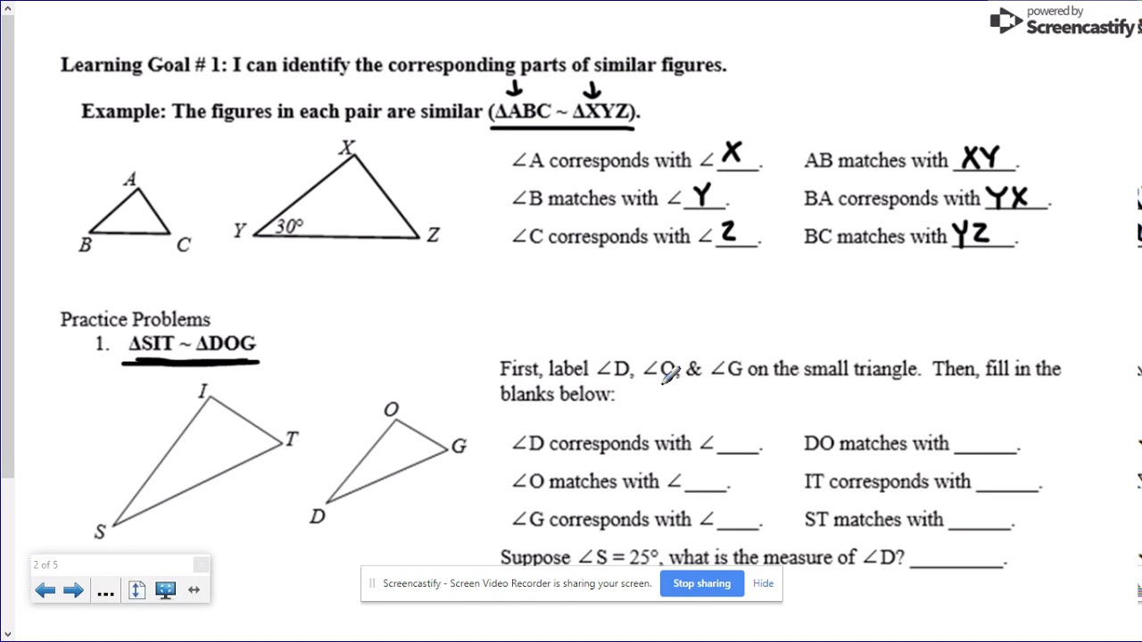 small resolution of Similar Figures Worksheet 8th Grade Math - YouTube