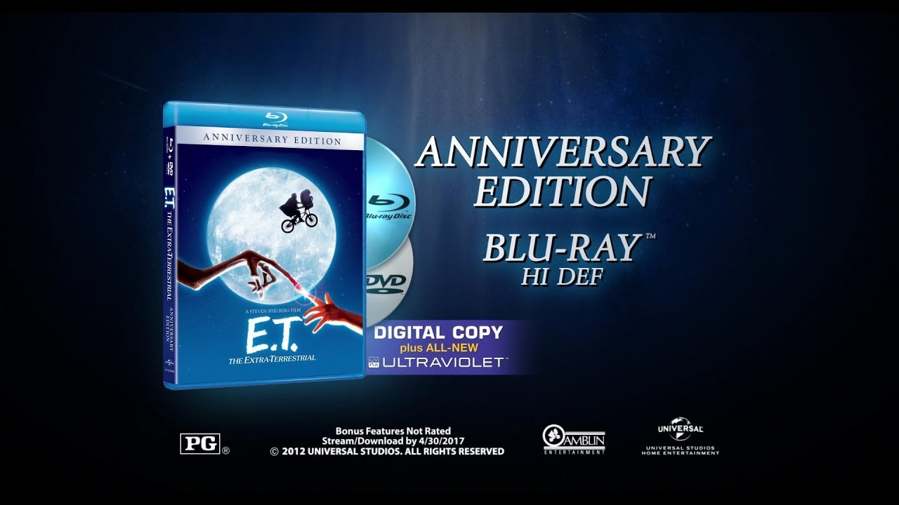 Download E.T., The Extra-Terrestrial (1982) 2012 30th Anniversary Blu-ray Disc trailer (1080p HD)