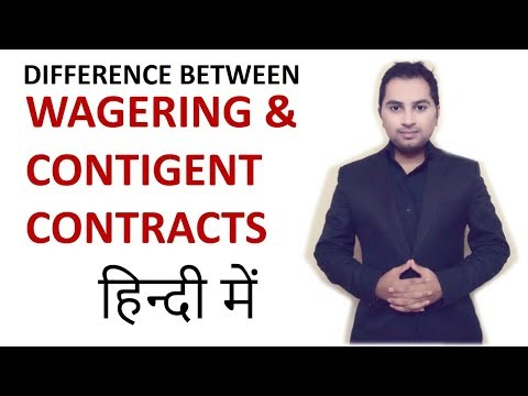 Difference between wagering and contingent contract - indian contract act 1872 | CA CPT | CS | LLB