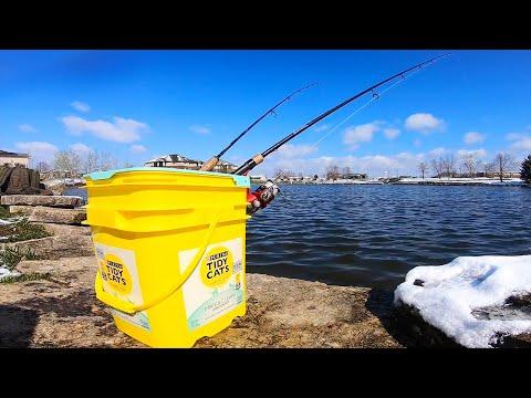 Cat Litter Pail Fishing Rod Holder - How To Make A Homemade Rod Holder