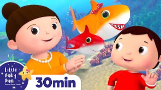 Rainbow Baby Shark Song! +More Nursery Rhymes and Kids Songs - ABCs and 123s | Little Baby Bum