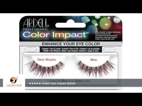 228c4e4c0cb Ardell Color Impact Lash False Eyelashes - Demi Wispies Wine (Pack of 2) |  Review/Test - YouTube