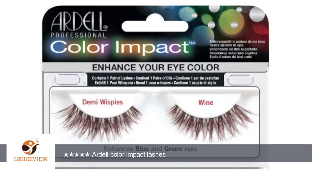 55035fea4a9 Ardell Color Impact Lash False Eyelashes - Demi Wispies Wine (Pack of 2) |  Review/Test
