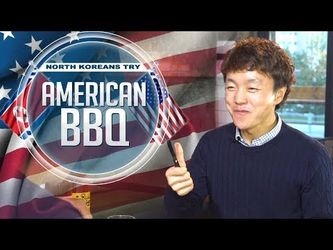 Eating American BBQ with North Koreans feat. Asian Boss