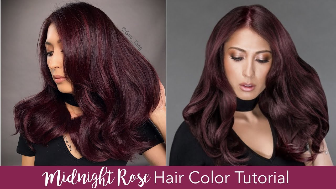 Midnight Rose Hair Color Tutorial Youtube