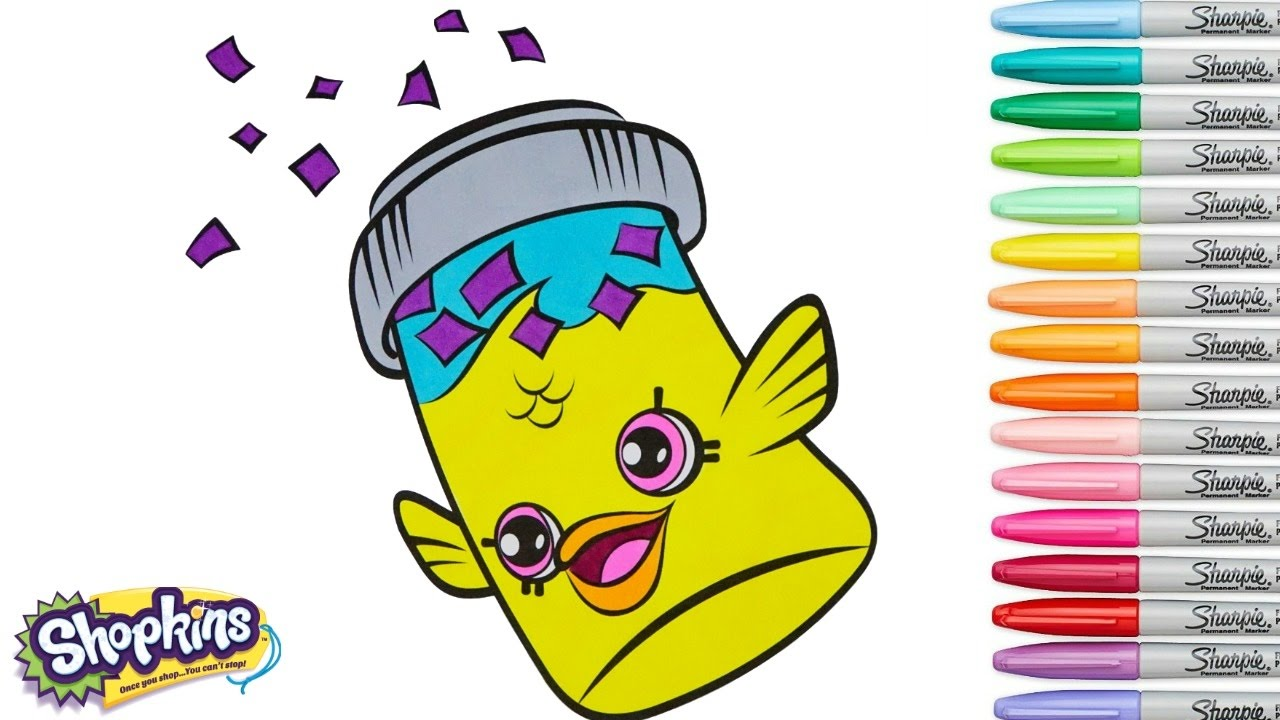 Shopkins Coloring Book Fish Flake Jake Season 4 Pages Special Edition