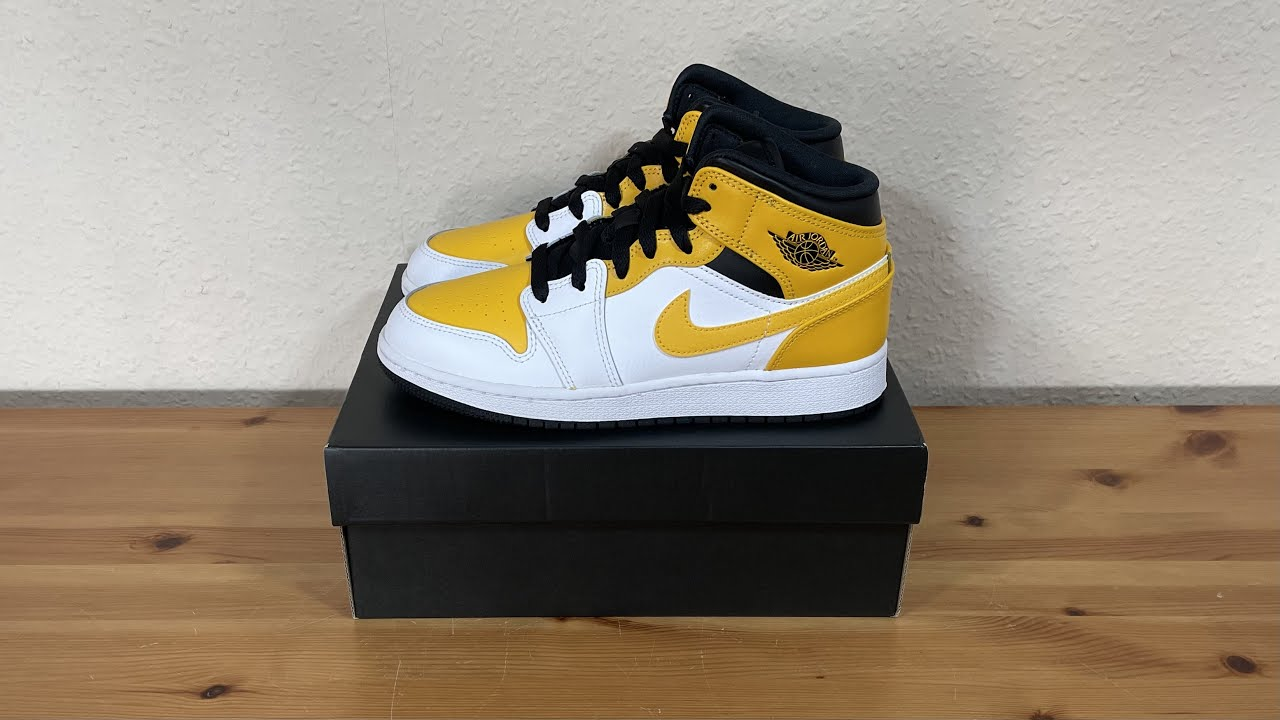 Nike Air Jordan 1 Mid University Gold White (GS) 554725-170