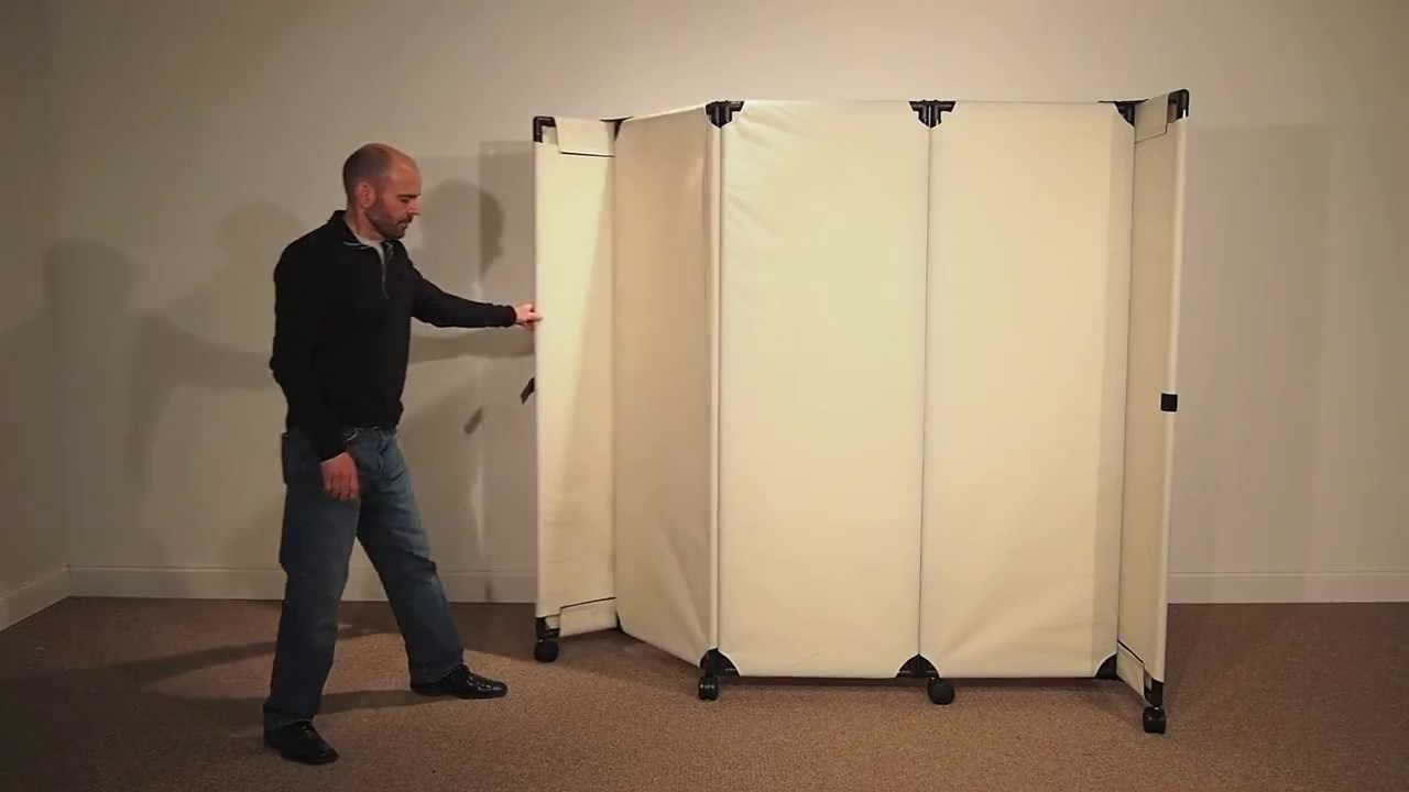 MP6 Economical Portable Room Divider by Versare - YouTube